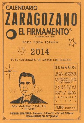 9788493874926: Calendario Zaragozano 2014