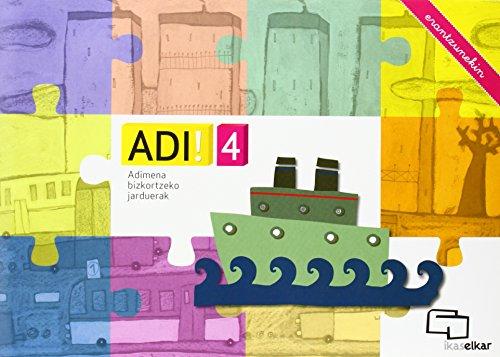 Adi! 4 - Adimena Bizkortzeko Jarduerak (erantzunekin): Xavier Blanch i