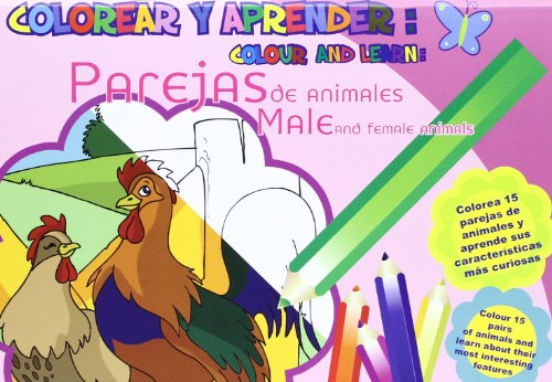 9788493928179: Colorear Y Aprender: Parejas De Animales (Colorear y aprender//Colour and learn)
