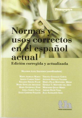 9788493931605: Normas y usos correctos en el español actual (Prosopopeya Manuales)