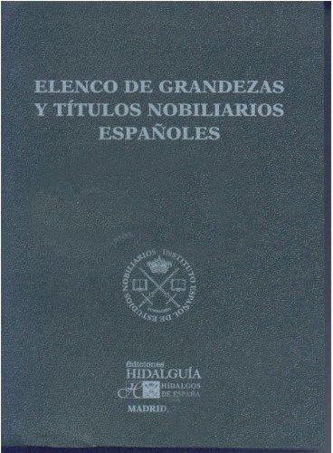 9788494023071: ELENCO DE GRANDEZAS Y TITULOS NOBILIARIOS ESPAÑOLES 2014