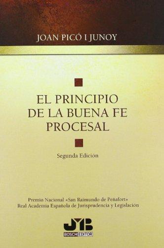 9788494075117: El principio de la buena fe procesal