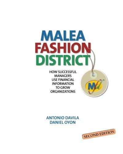 Malea Fashion District: How Successful Managers Use: Davila, Antonio; Oyon,