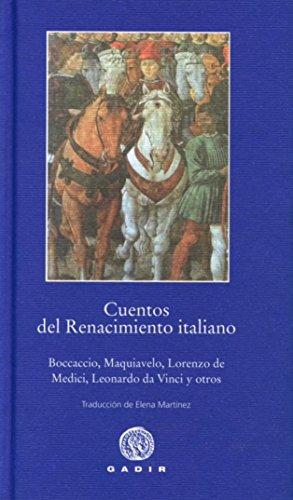 9788494179945: Cuentos Del Renacimiento Italiano (Pequeña Biblioteca Gadir)