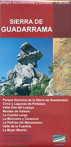 Sierra de Guadarrama : mapa excursionista y: Álvarez Ruiz, Alberto