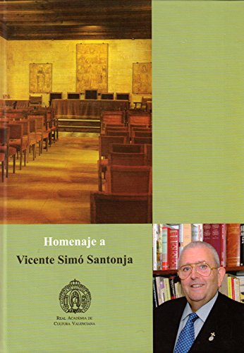 9788494472312: Homenaje a Vicente Simó Santonja
