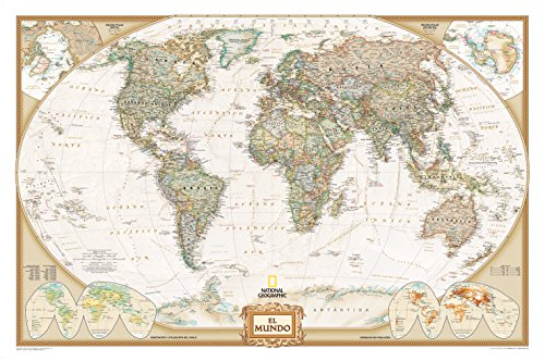 9788494512520: El Mundo Executive pequeño (100x70) castellano. 1:41.780.000. National Geographic.