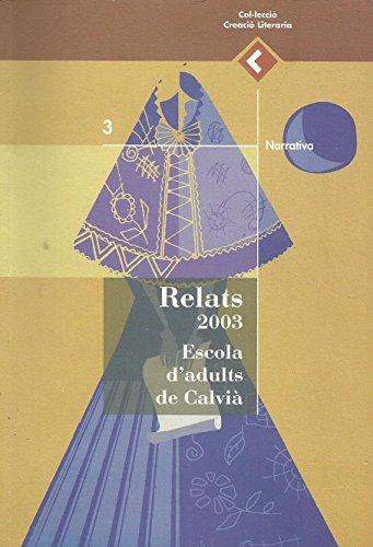 9788495065063: Relats 2003. Escola d'adults de Calvià