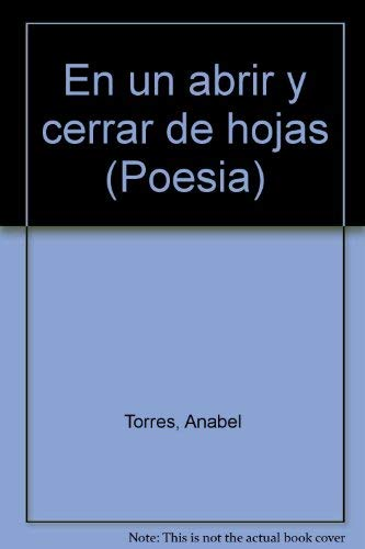 9788495116437: En un abrir y cerrar de hojas (Poesía) (Spanish Edition)
