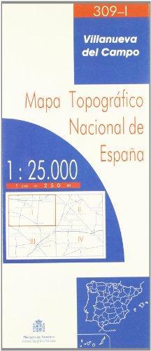 9788495172754: Villanueva del Campo 309-I 1:25000 - Mapa Topográfico Nacional de España