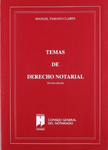 9788495176769: TEMAS DE DERECHO NOTARIAL 9 ED.