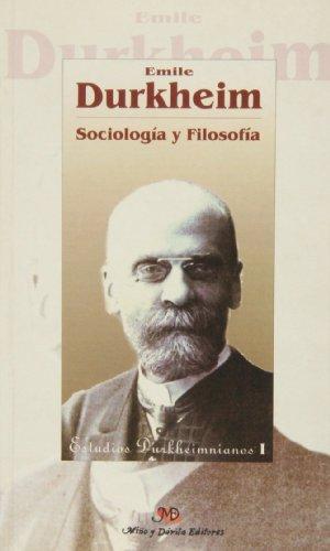 9788495294135: Sociologia y filosofia (Estudios Durkheimnianos)
