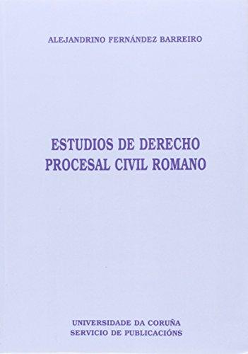 9788495322203: Estudios de Derecho Procesal Civilromano (Homenajes)