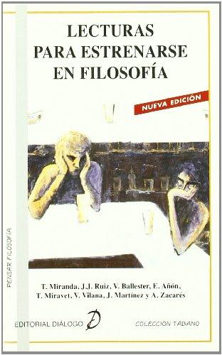 9788495333582: Lecturas para estrenarse en Filosofía (Tabano Pensar Filosofia)