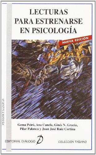 9788495333605: Lecturas para estrenarse en Psicología
