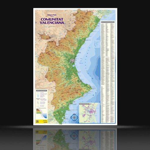 9788495386380: Mapa fisic comunitat Valenciana(mural)