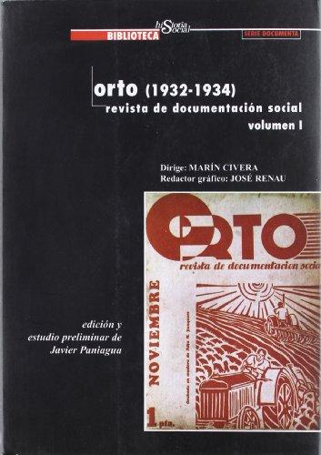 9788495484208: Orto (1934-1934): Revista de documentación social (Biblioteca historia social)
