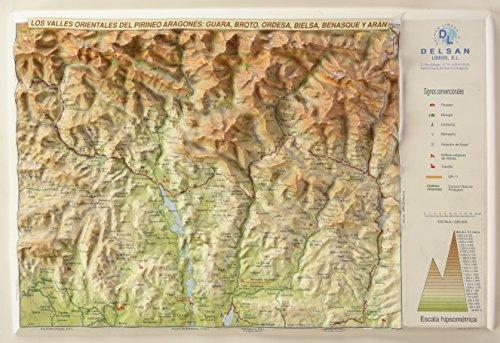 9788495487186: (en Relieve) Mapa Valles Orientales Del Pirineo Aragones, Los (Mapas En Relieve)