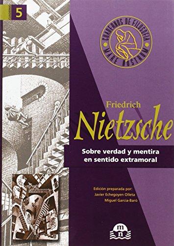 9788495509000: Sobre verdad y mentira en sentido extramoral : Friedrich Nietzsche