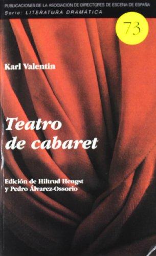 9788495576743: Teatro de cabaret