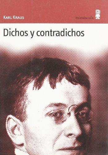 9788495587169: Dichos y contradichos