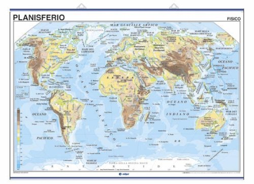 9788495654212: Planisferio, físico / político: Mapas Murales (Cartografía)