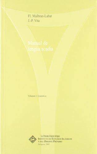 MANUAL DE LENGUA ACADIA, 2 VOLS. (1: GRAMATICA; 2: GLOSARIO Y EJERCICIOS): MALBRAN-LABAT, F. / J. P...