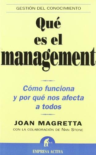 9788495787385: Que es el Management? (Spanish Edition)
