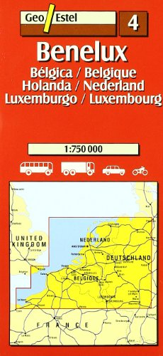 9788495788856: Benelux. Bélgica- Holanda - Luxemburgo / Belgique- Nederland-Luxembour (Mapas de carreteras. Comunidades autónomas y regio)