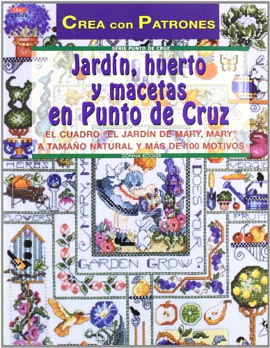 9788495873590: Jardín, huerto y macetas en punto de cruz
