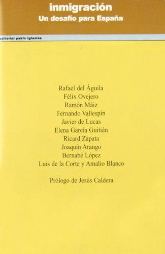 9788495886132: INMIGRACION UN DESAFIO PARA ESPAÑA