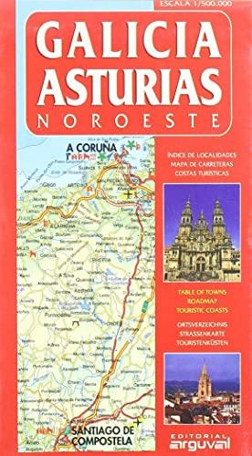 9788495948243: Mapa Galicia-Asturias (Noroeste) (MAPAS DE CARRETERAS)