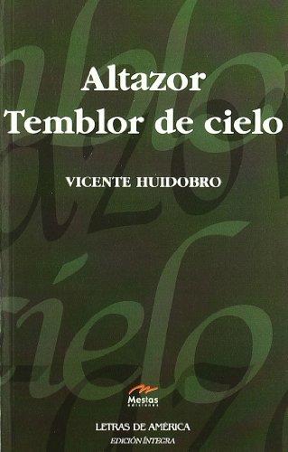 9788495994271: Altazor & Temblor de cielo / Altazor & Tremor of Heaven (Letras de America / Letters of America) (Spanish Edition)