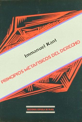 9788496133310: Principios Metafísicos Del Derecho (Spanish Edition)