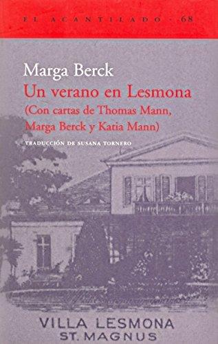 9788496136014: Un verano en Lesmona (El Acantilado)