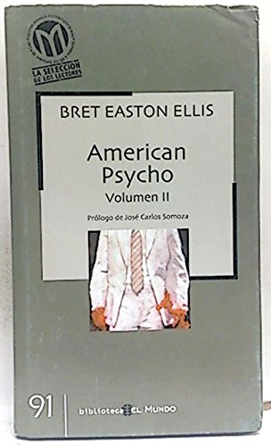 9788496142565: American psycho Vol II