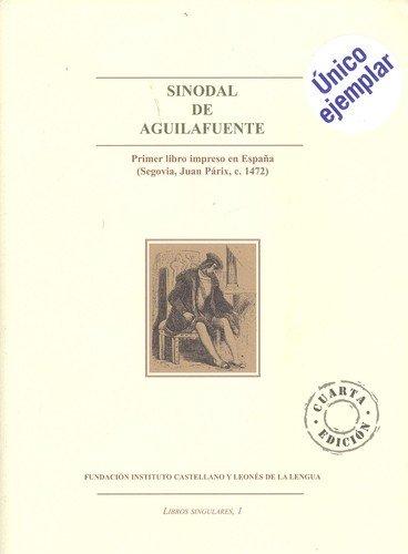 Imagen de archivo de SINODAL DE AGUILAFUENTE a la venta por Domiduca Libreros