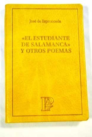 9788496155190: El Estudiante De Salamanca Y Otros Poemas