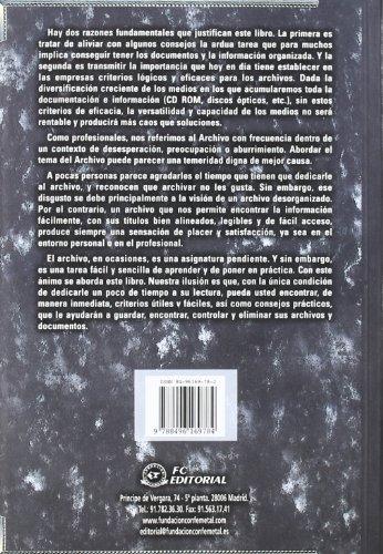 9788496169784: Tecnicas de archivo y documentacion en la empresa (4ª ed.)