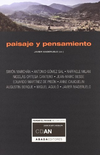 9788496258846: PAISAJES Y PENSAMIENTO