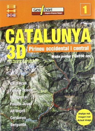9788496295964: Pirineu Occidental-Central: Mapa poster (Catalunya 3D - carpeta)