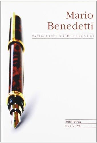 9788496304659: Variaciones sobre el olvido: 1st (Mini Letras/Mini Writings)