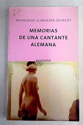 9788496333796: MEMORIAS DE UNA CANTANTE ALEMANA/QUINTET
