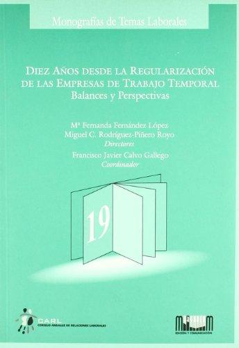 Diez años desde la regularización de las: Francisco Javier Calvo