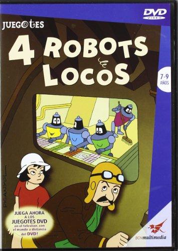 4 ROBOTS LOCOS JUEGOTES DVD-VIDEO - AUTOR SIN DETERMINAR