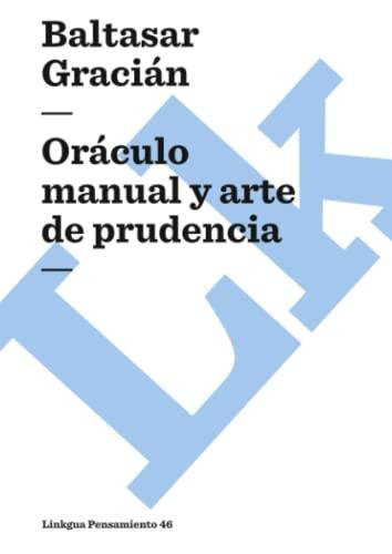 9788496428898: Oráculo Manual Y Arte De Prudencia (Pensamiento)