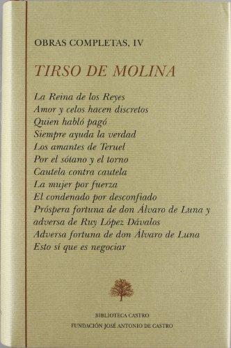 Obras Completas De Tirso De Molina: TIRSO DE MOLINA