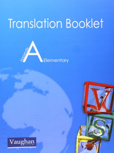 9788496469235: Translation Booklet A