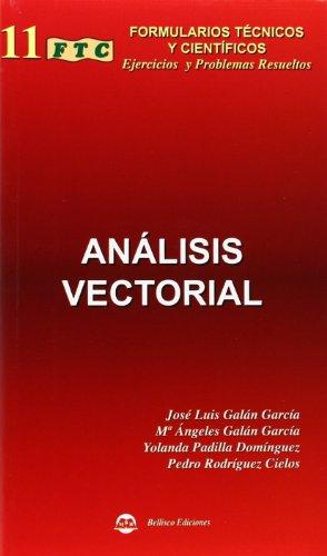 FORMULARIO DE ANÁLISIS VECTORIAL (2006): GALAN