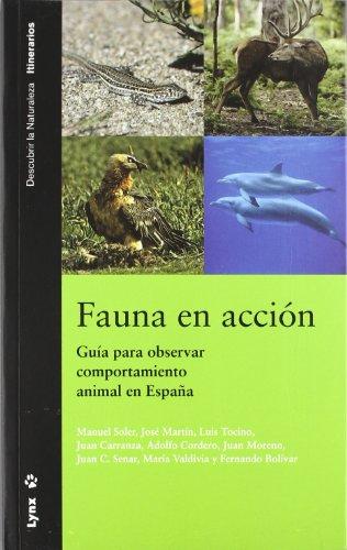 9788496553231: Fauna en acción: Guía para observar comportamiento animal en España (Descubrir la Naturaleza)
